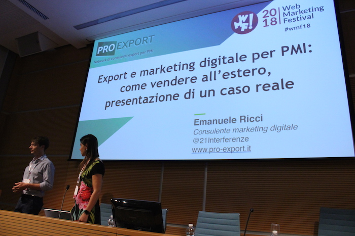 Pro Export al Web Marketing Festival